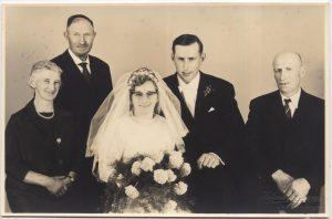 Hochzeitsfoto Alfred und Herta Blum (mit den Eltern)