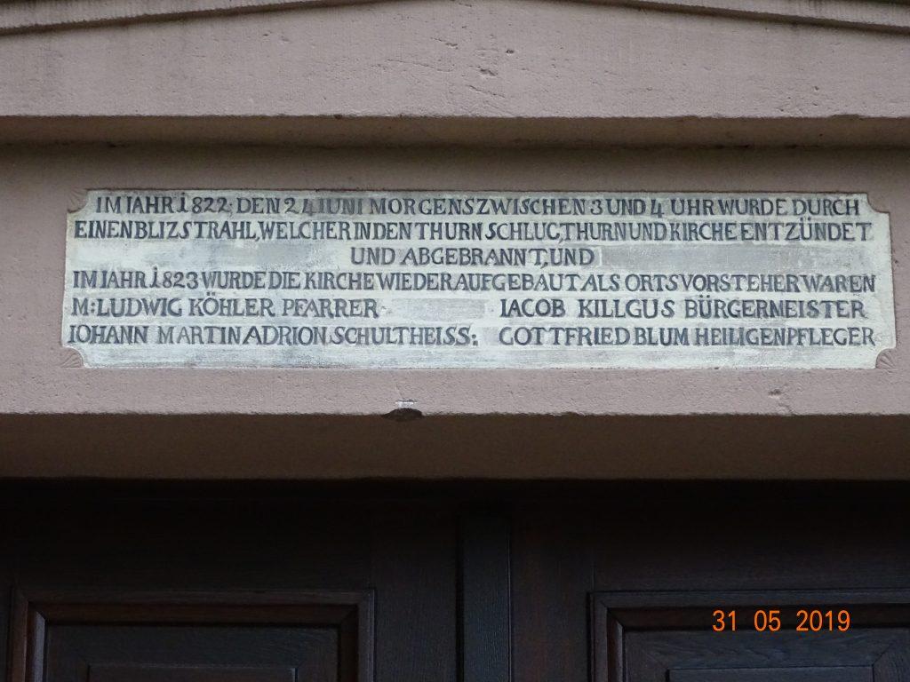 Eingangstür zur Kirche Schömberg